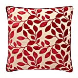Debenhams Red Burnout Leaf Cushion