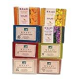 Khadi Mauri Herbal Soaps Assorted Pack of 8 Ayurvedic Natural Summer Care