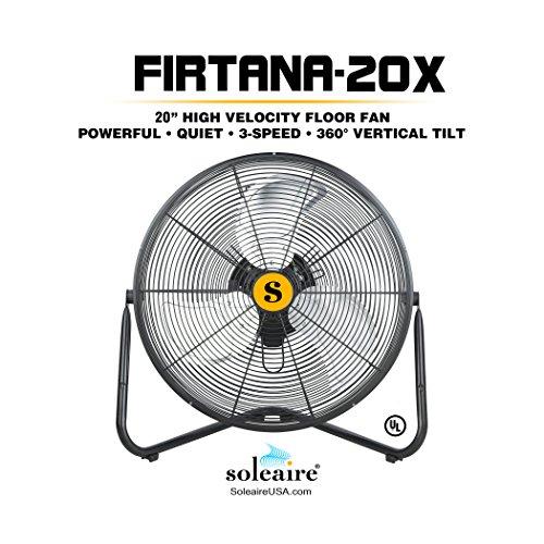 Perfect Soleaire Firtana 20 High Velocity Floor Fan