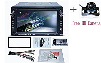 Klarheit 2 Din 6.2 Inch Dash Car Stereo CD DVD Player FM Stereo Radio USB Port SD Card Slot Bluetooth+Free Backup Camera from The Rear View Camera Center