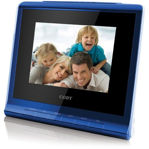Lowest Prices! Coby DP356BLU 3.5-Inch Digital Photo Frame with Alarm Clock, Blue