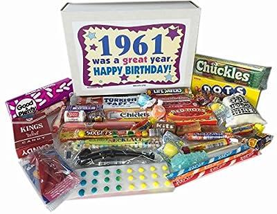 1961 55th Birthday Gift Basket Box Jr. Retro Nostalgic Candy Born '60s