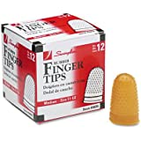 Swingline Rubber Finger Tips, Size 11 1/2, Medium, 12/Box (54035)