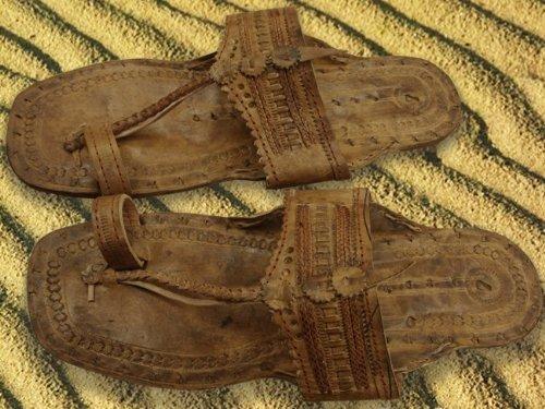 Handmade Men Leather Casual Sandals Roman Flip Multi-US ... |Hippie Mens Leather Sandals