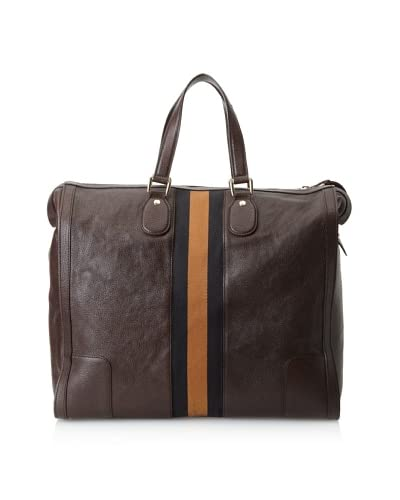 Gucci Men's Striped Square Tote, Brown As You See