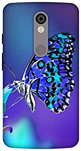 The Racoon lovely butterfly night hard plastic printed back Case for Motorola Moto X Force