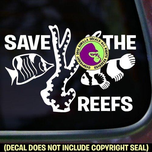 save-the-reefs-fish-ocean-marine-greenpeace-vinyl-decal-sticker-wall-car-window-laptop-sign-white