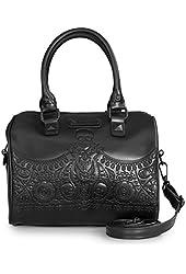Loungefly Matte Black Skull Bandana Duffle Bag, Black