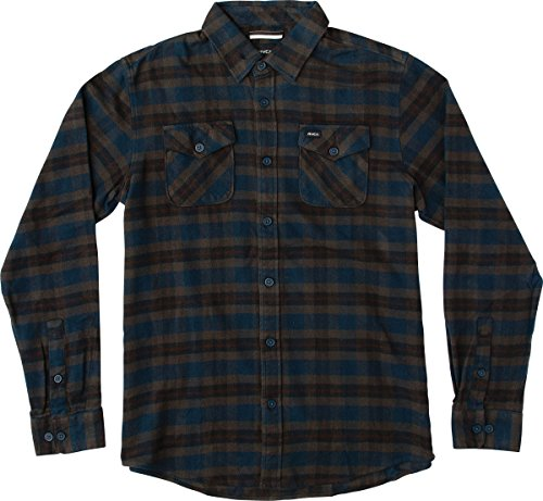 rvca-mens-thatll-work-flannel-shirt-carbon-large