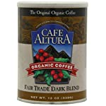 Cafe Altura Organic Coffee, Fair Trade Dark Blend, Ground, 12-Ounce Can (Pack of 3)