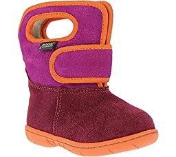 Baby Bogs Velcro Leather Boot (Toddler),Cranberry,8 M US Toddler