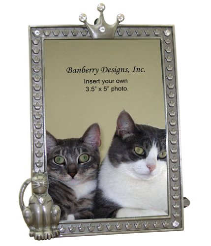 Cat Photo Frame With Jeweled Accents