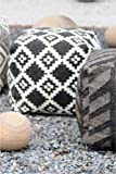 Artisanto Hand Knitted Pouf / Stool -CHARCOAL