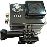 Pro Action Sports Camera 720p HD Waterproof to 100 Feet 90 Degree Lens w LCD Mount For Handlebar Pole Helmet & More