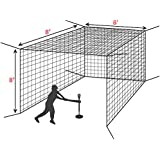 Baseball Batting Cage - The Best Value Cage Ideal for Soft Toss and Tee Hitting [Net World]
