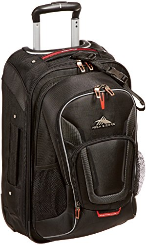 B00COBKUO4 High Sierra AT7 Outdoor Rolling Backpack, Black, 22-Inch