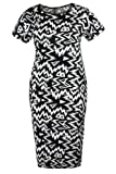Curvy Boutique Women's Plus Size Tribal Aztec Print Bodycon Dress