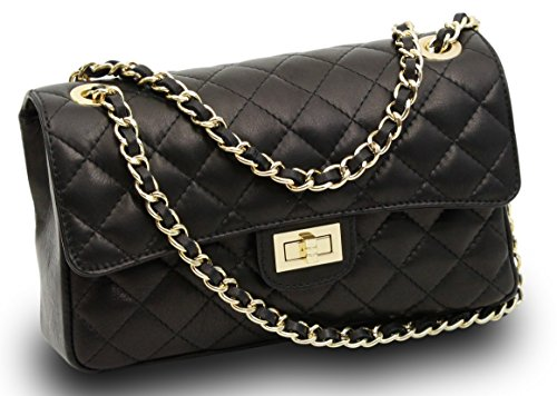 made-in-italy-luxury-ladies-bella-nappa-leather-quilted-chain-clutch-bag-handbag-black