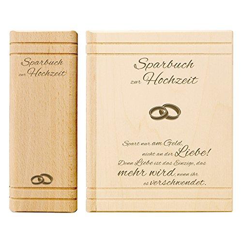 Sprüche Hochzeitsbuch Spardose Buch Aus Holz Zur Hochzeit Mit Gravur Quot  Liebesgedicht Quot Motiv Eheringe 13