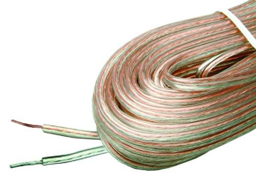 Arista 18-5882-16 Ga Speaker Wire 16 Gauge 50-Feet, Clear