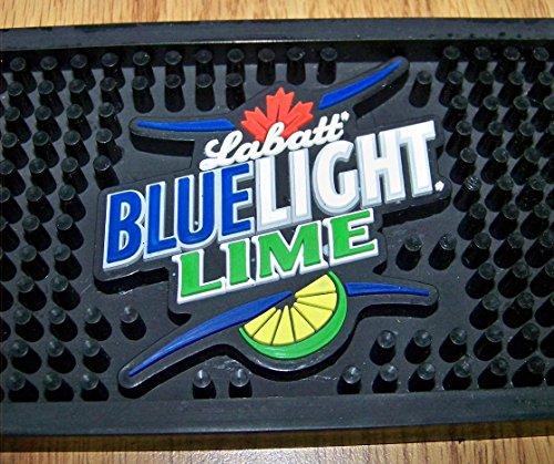 new-labatt-blue-light-lime-24-black-rubber-bar-mat-tap-drip-catcher-coaster-supply-fromjoeys-treasur