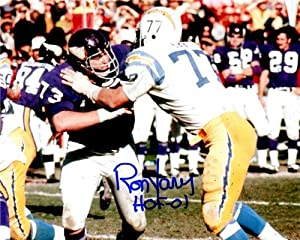 Autographed Hand Signed Ron Yary 8x10 8x10 Photo - Minnesota Vikings by Hall of Fame Memorabilia