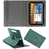 Acm Designer Rotating Leather Flip Case For Samsung Galaxy Tab 8.9 P7300 Cover Stand Turquoise