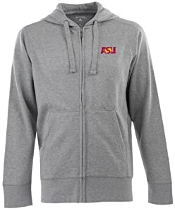 Arizona State Signature Full Zip Hooded Sweatshirt (Grey) by Antigua