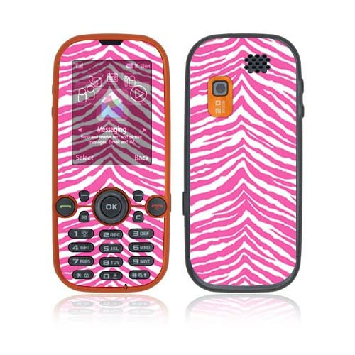 Pink Zebra Decorative Skin Cover Decal Sticker for Samsung Gravity 2 SGH T469 Cell Phone
