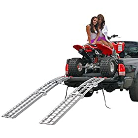 "89"" Dual Arched Folding Aluminum ATV Loading Ramps"