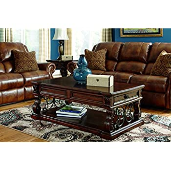 Signature Design by Ashley T869-9 Alymere Collection Coffee Table, Rustic Brown