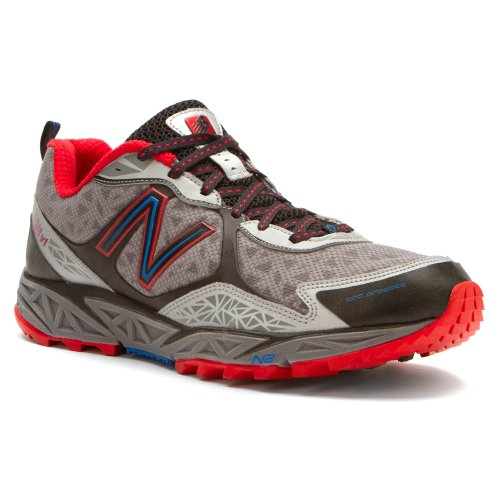 New Balance Men'S Mt910 Trail Running Trail Running Shoe,Red/Silver,8.5 4E Us