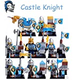 8pcs Compatible With Lego Castle Knight Cavalryman Warrior King Middle Ages Building Bricks Blocks Set Figures Minifigures Toys