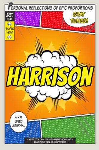 Superhero Harrison A 6 x 9 Lined Journal [One Jacked Monkey Publications] (Tapa Blanda)