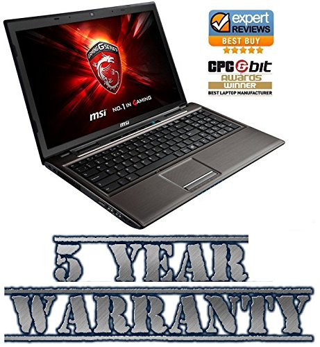 New MSI Gaming Intel i5 Turbo Laptop, 16GB Ram, 2 Graphics Cards inc Dedicated 2GB Geforce, 1TB HDD, Windows 10, inc 5 Year Warranty