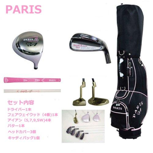 【レディース】【PARIS】パリス ゴルフクラブ ハーフセットキャディバッグ付き(ウッド2本、アイアン4本、パター)