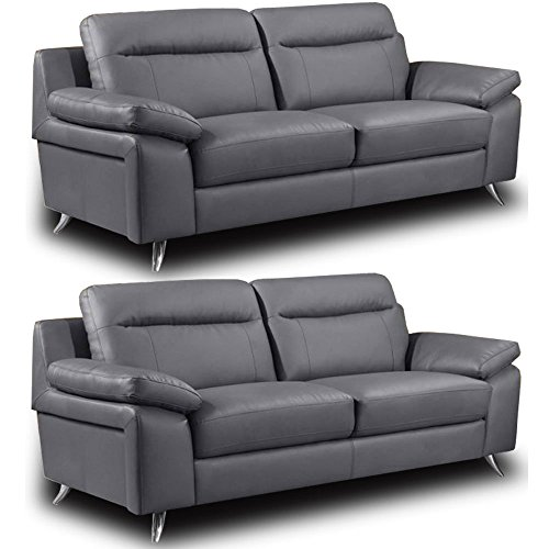 best price nuvola grey leather sofa range all combinations rh sites google com