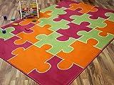 Kinderteppich Trendline Puzzle Bunt in 4 Größen