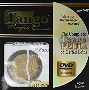 MMS Folding Coin - 2 Euros (Traditional with DVD) by Tango Magic - Trick (E0064)