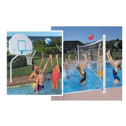 Bluiren Ordernow Dunnrite Deckcombo Swimming Pool Basketball And Volleyball Combo Set With