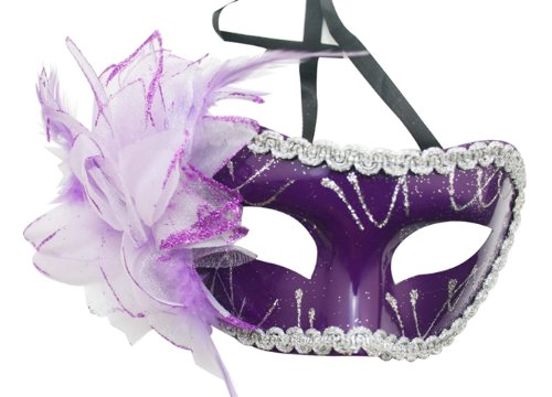 Chuzhao Wu Feather Flower Purple Mask Cosplay Party Venetian Costume Masquerade