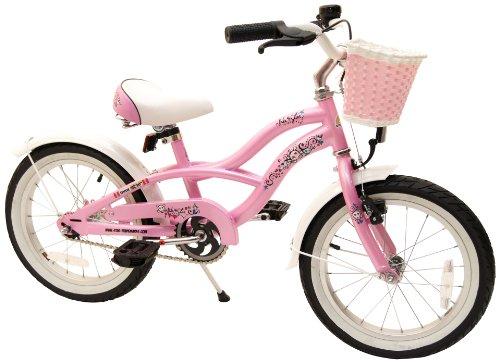 bike*star 40.6cm (16 Inch) Kids Children Girls Bike Bicycle Cruiser - Colour Pink