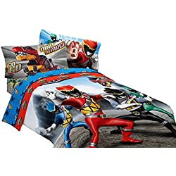 Saban Power Rangers Dinosaur Rumble Microfiber Comforter, Twin/Full