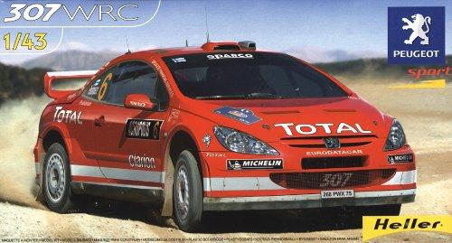 heller-peugeot-307-wrc-04-car-model-building-kit-31-parts