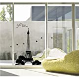 Easy Instant Decoration Wall Sticker Decal - Eiffel Tower Silhouette