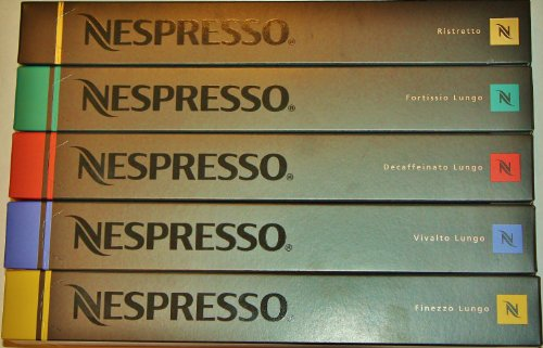 Purchase 50 Nespresso Coffee Capsules Lungos and Ristretto Mix - Nespresso
