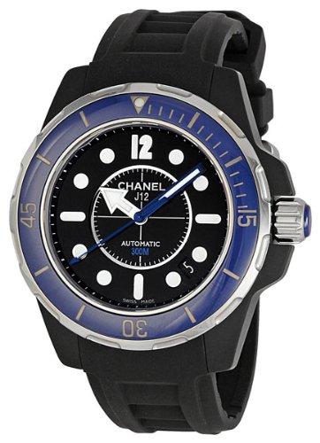 Chanel Women's H2561 J12 Black Rubber Strap Watch