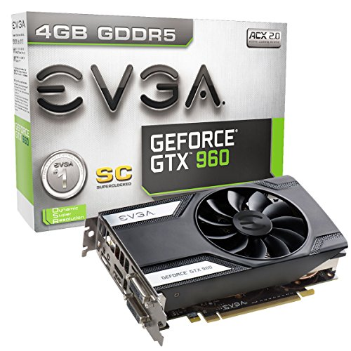 EVGA GeForce GTX 960 04G-P4-1962-KR 4GB SC GAMING, 6.8 Inch