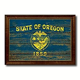 Oregon State Vintage Flag Art Collection Western Shabby Cottage Chic Interior Design Office Wall Home Decor Gift Ideas, 23\