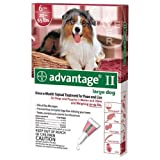 Advantage II for Large Dogs 21 - 55 lbs, (Red) 6 Months